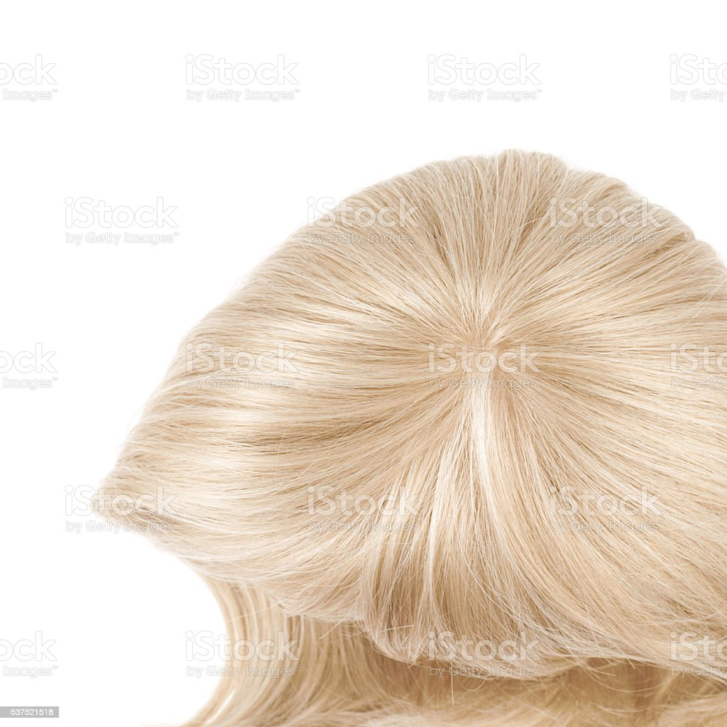 Hair wig isolated stock photo