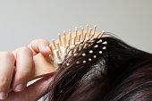 Hair with hairbrush
