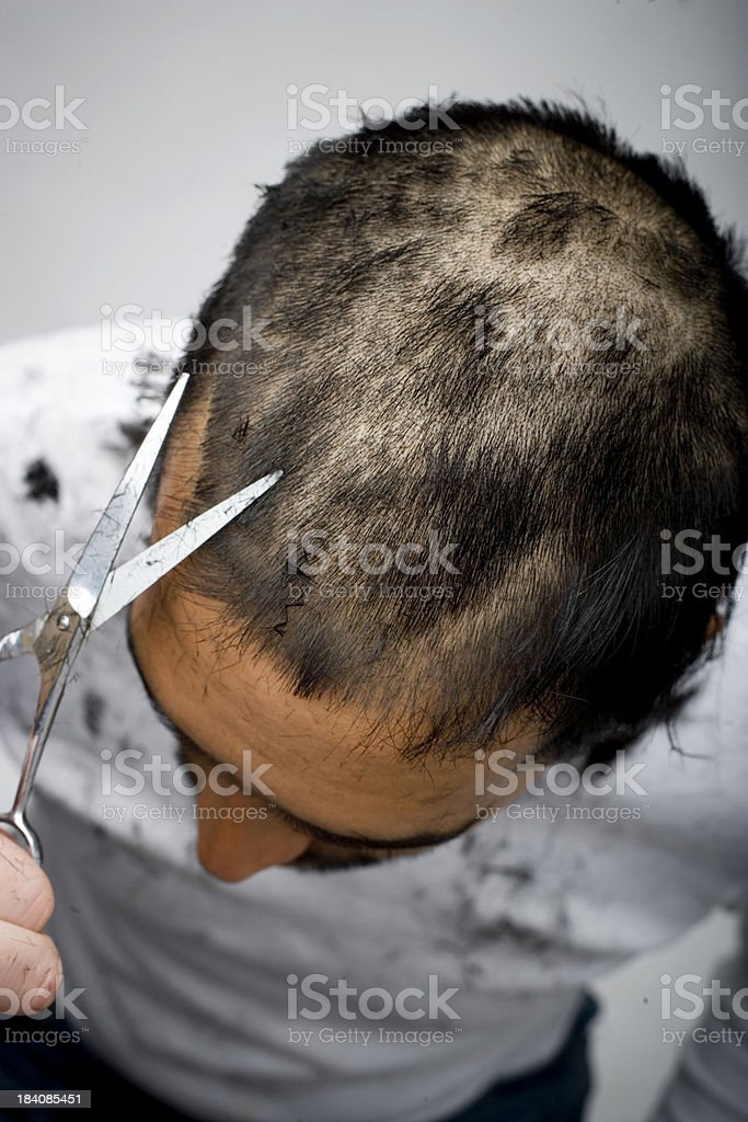 Haircut royalty-free stock photo