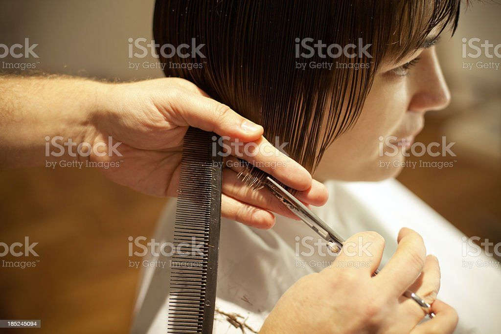 Haircut royalty-free stock photo