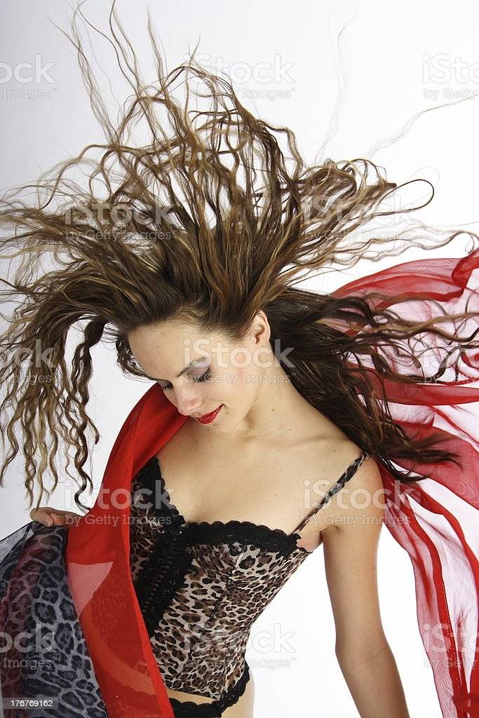 Hairdance royalty-free stock photo