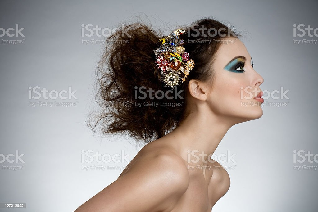 Coiffure royalty-free stock photo