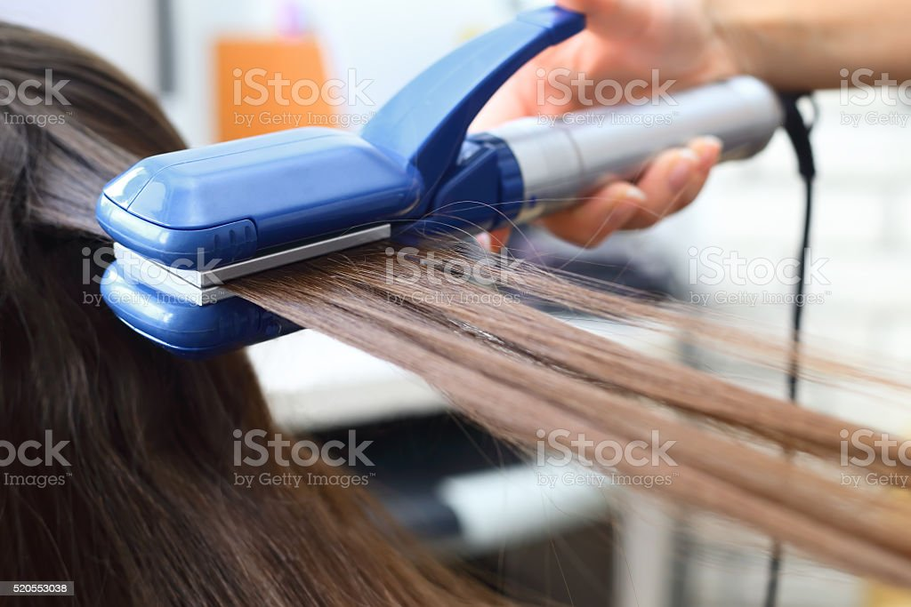 Hairdresser hairstyle models stock photo