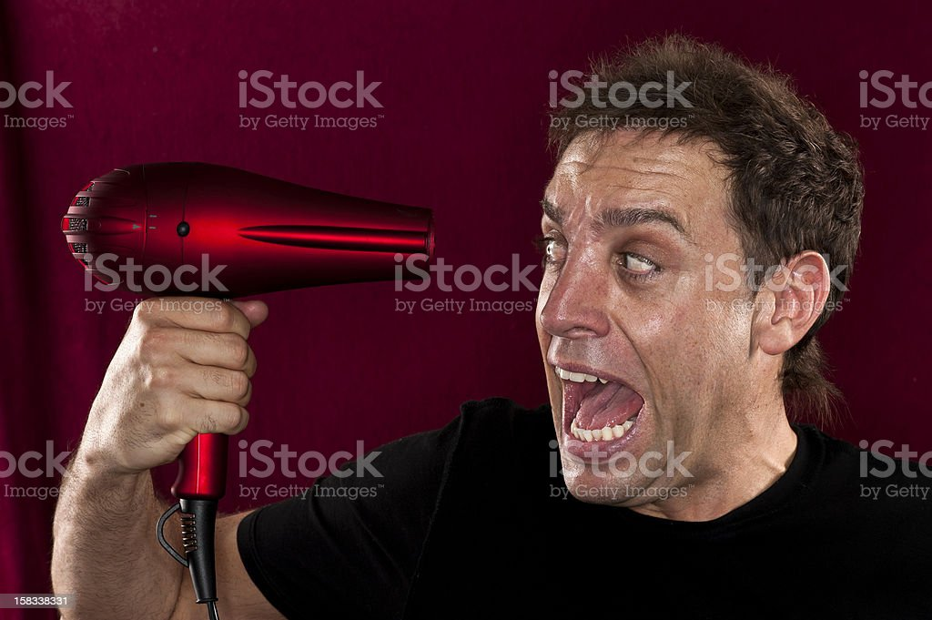Hairdresser in panic royalty-free stock photo