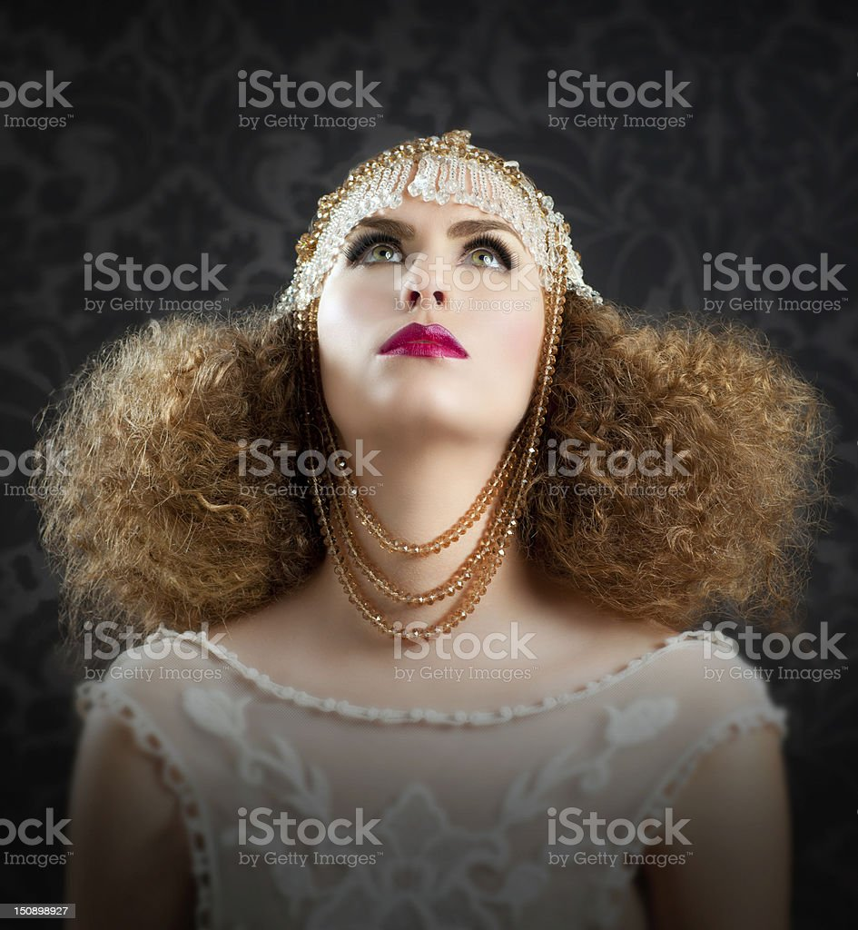 Hairdressing and makeup fashion girl royalty-free stock photo