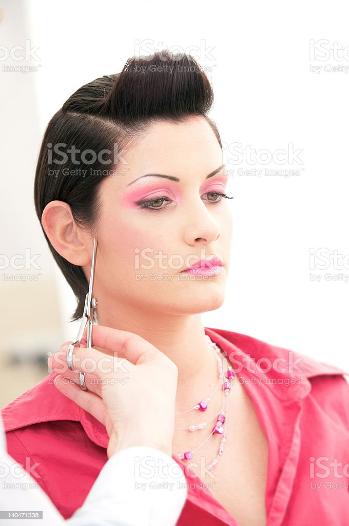 Hairdressing royalty-free stock photo