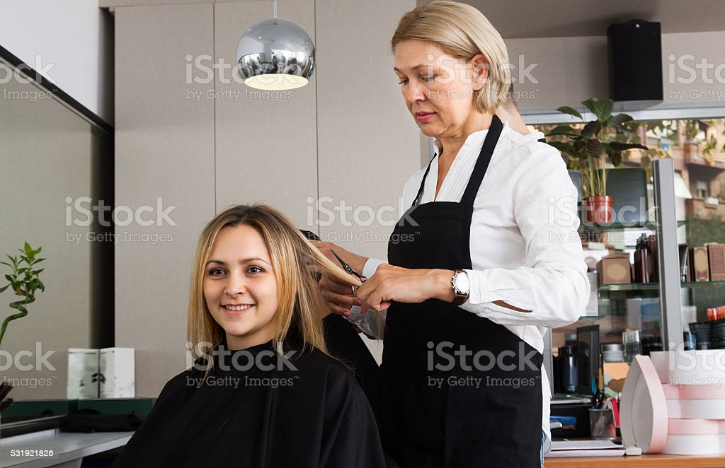 Hairdressing saloon stock photo
