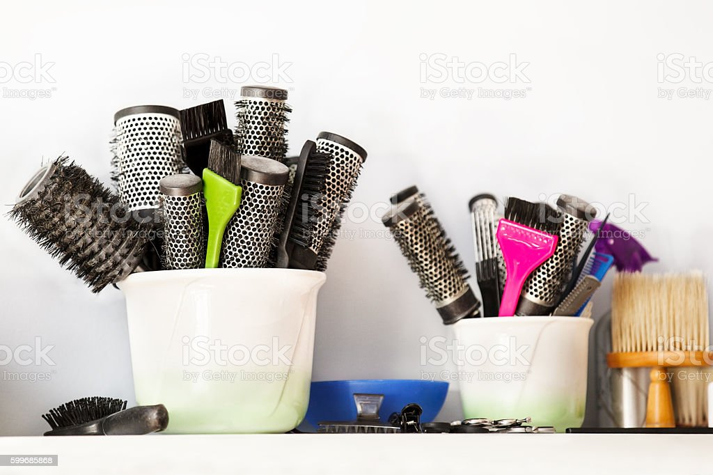 Hairdressing tools. stock photo
