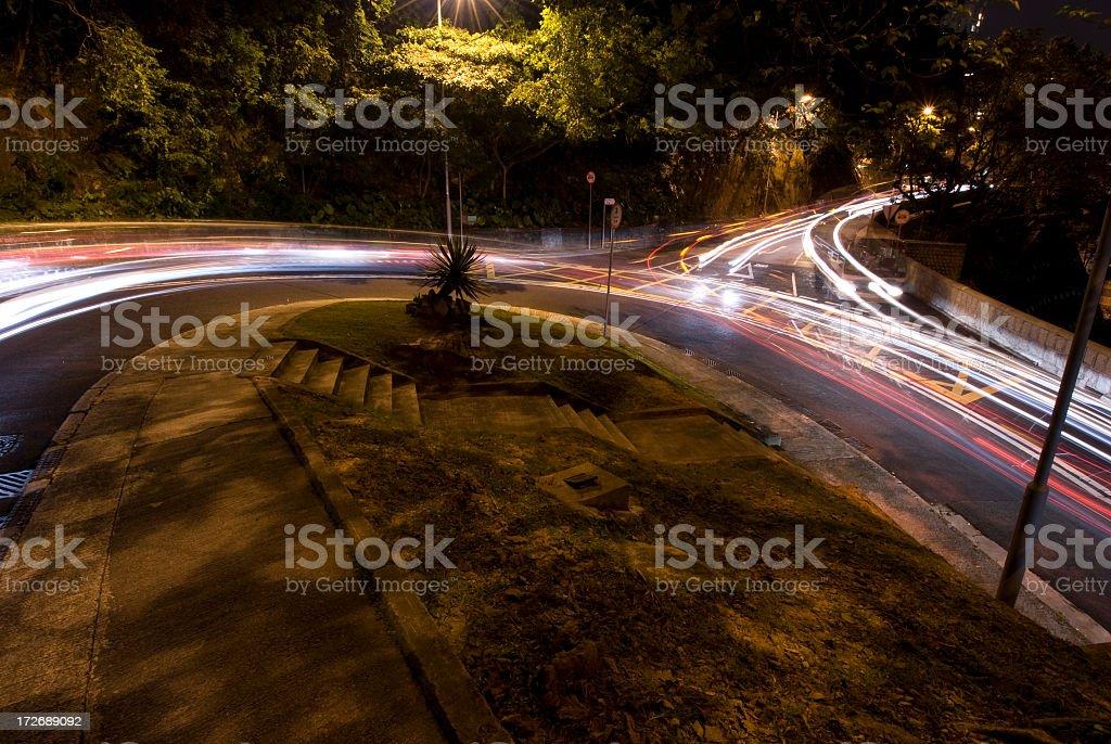 Hairpin Bend at Night royalty-free stock photo