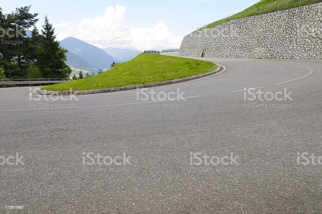 Hairpin Bend royalty-free stock photo