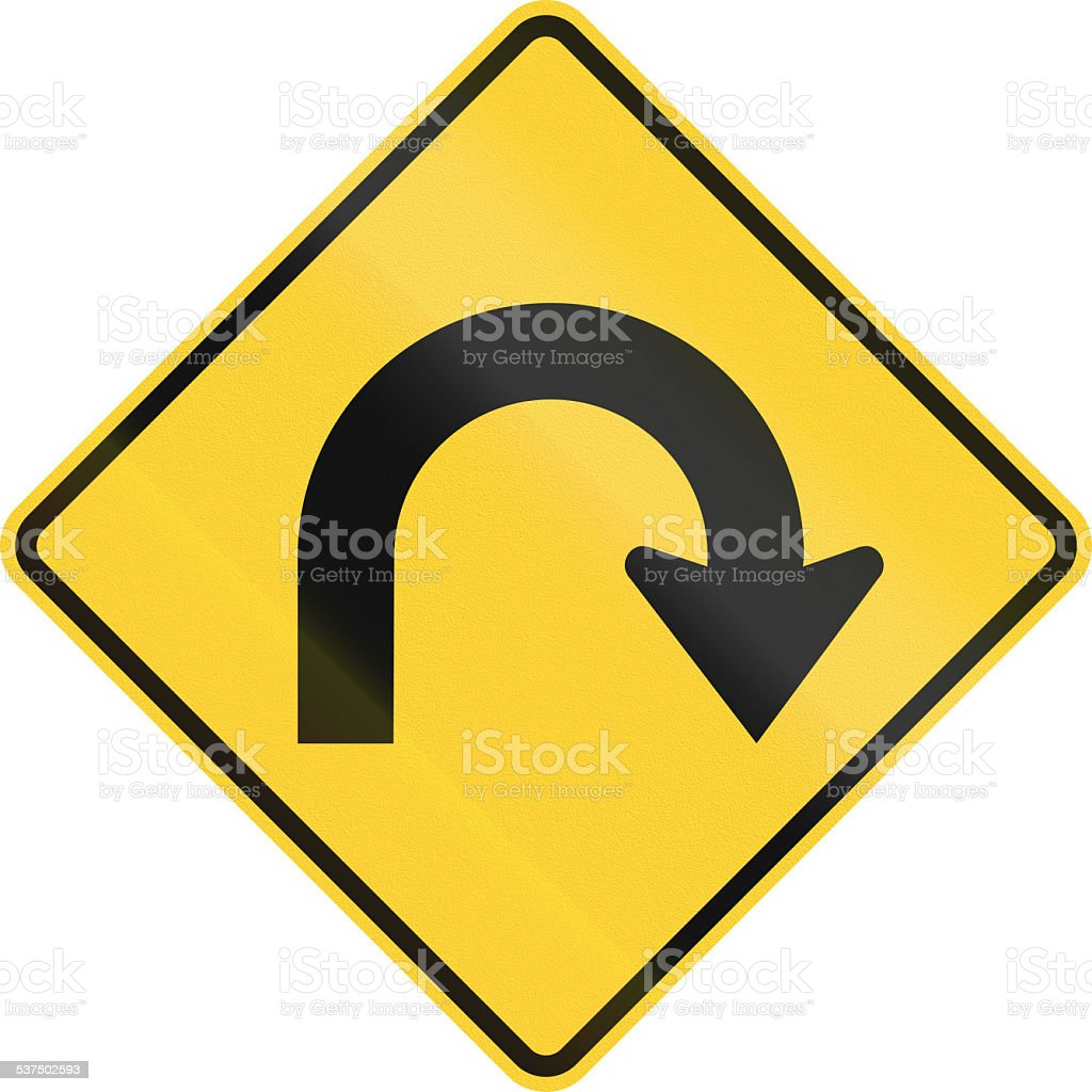Hairpin Curve stock photo