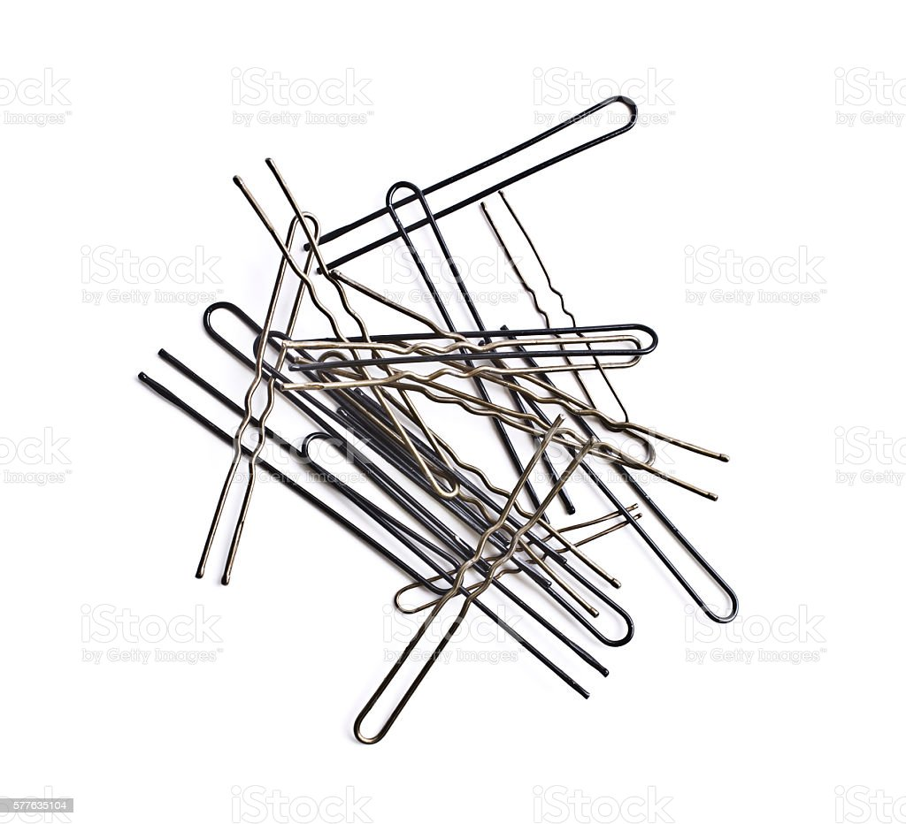 Hairpins stock photo