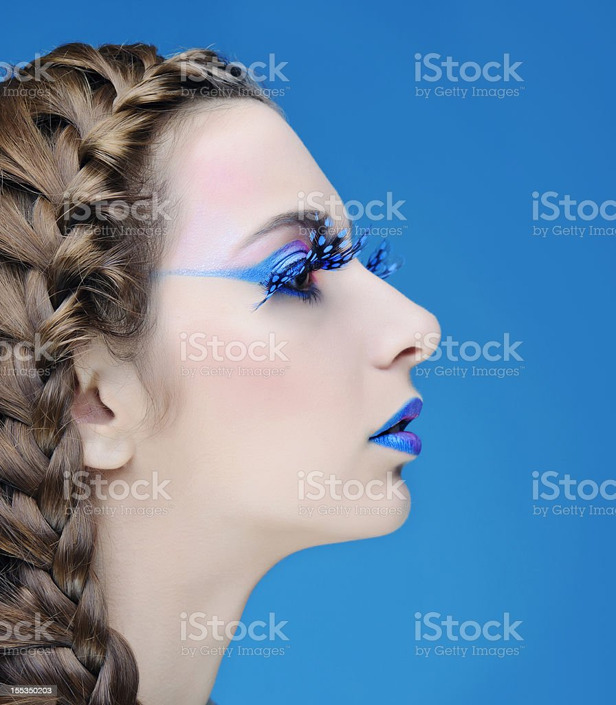 hairstyle and make-up stock photo