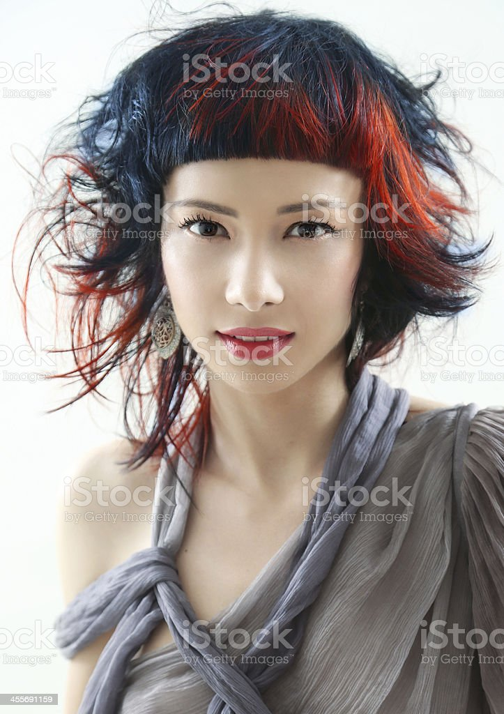 hairstyle beauty stock photo