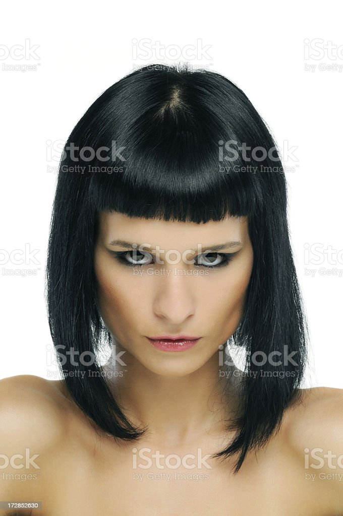 hairstyle royalty-free stock photo