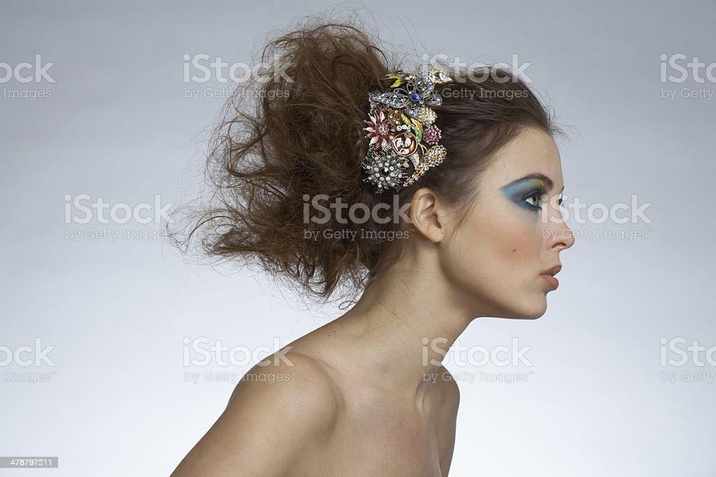 Hairstyle (no retouching) royalty-free stock photo