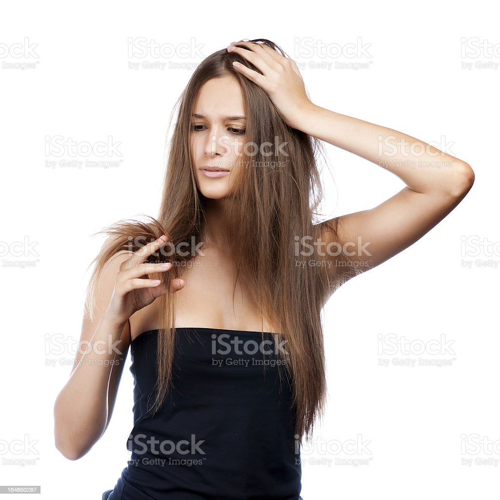 hairstyle portrait of shocked stock photo