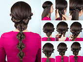 hairstyle twisted ponytail tutorial