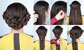 hairstyle with braids for party tutorial