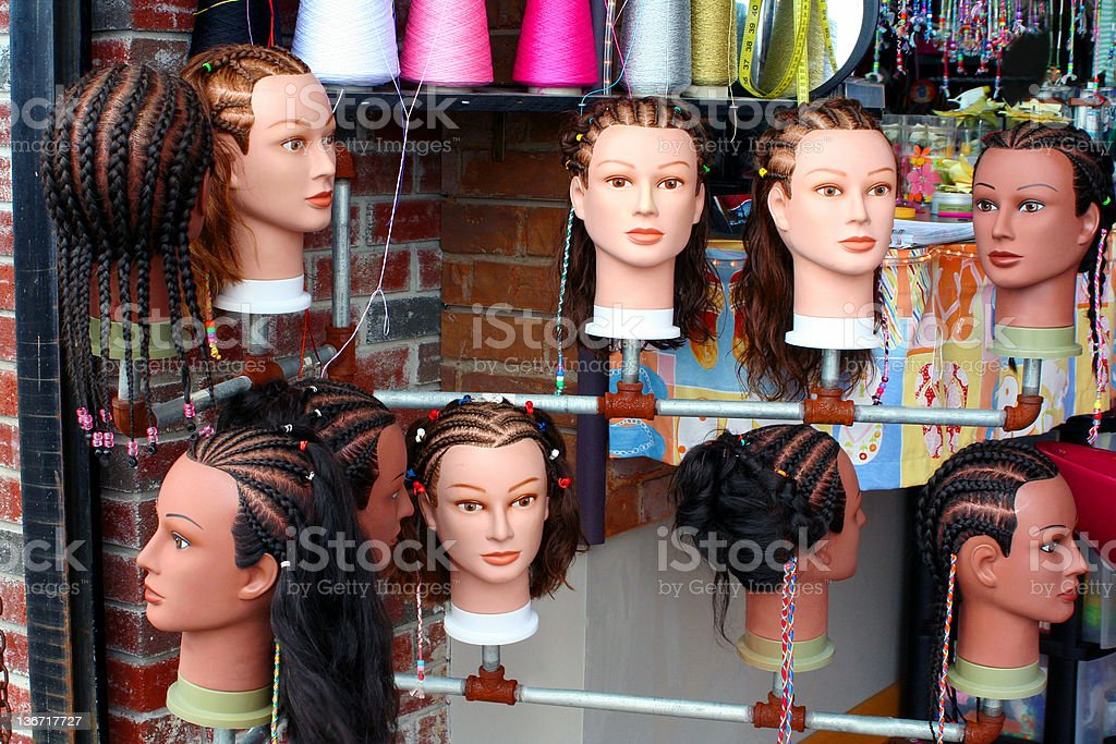 Hairstyles On Mannequins royalty-free stock photo