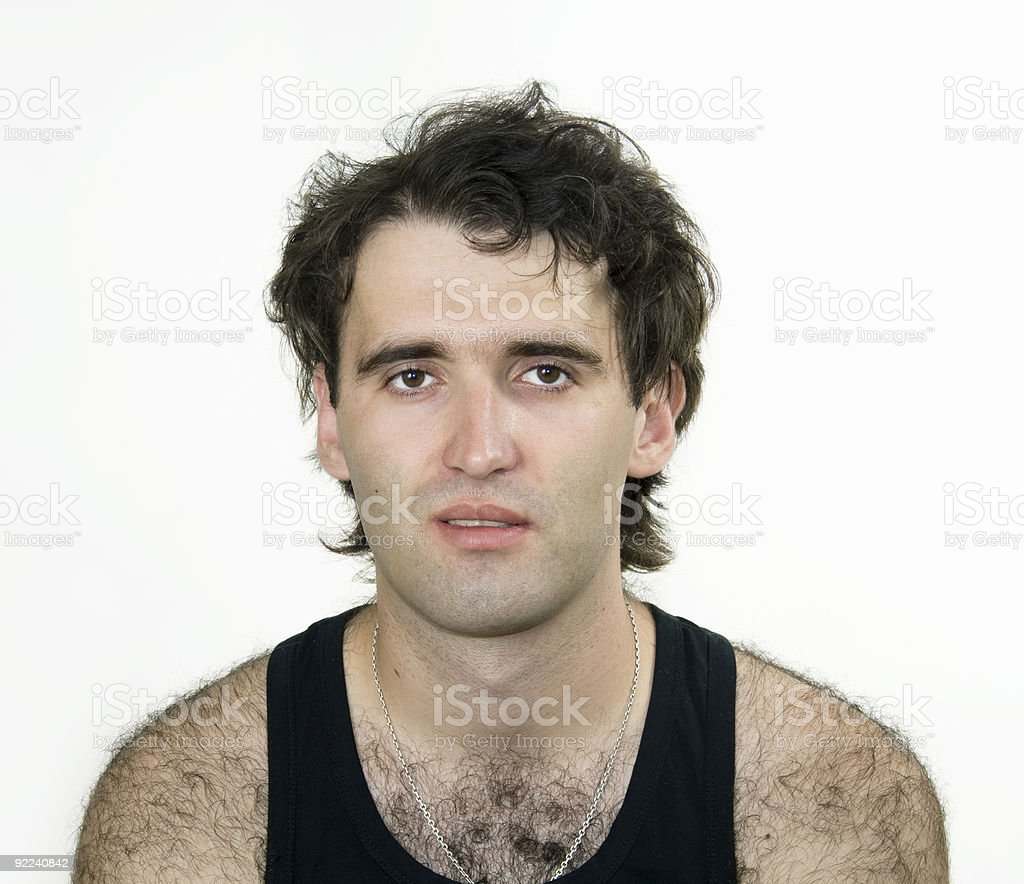 Hairy attractive man royalty-free stock photo