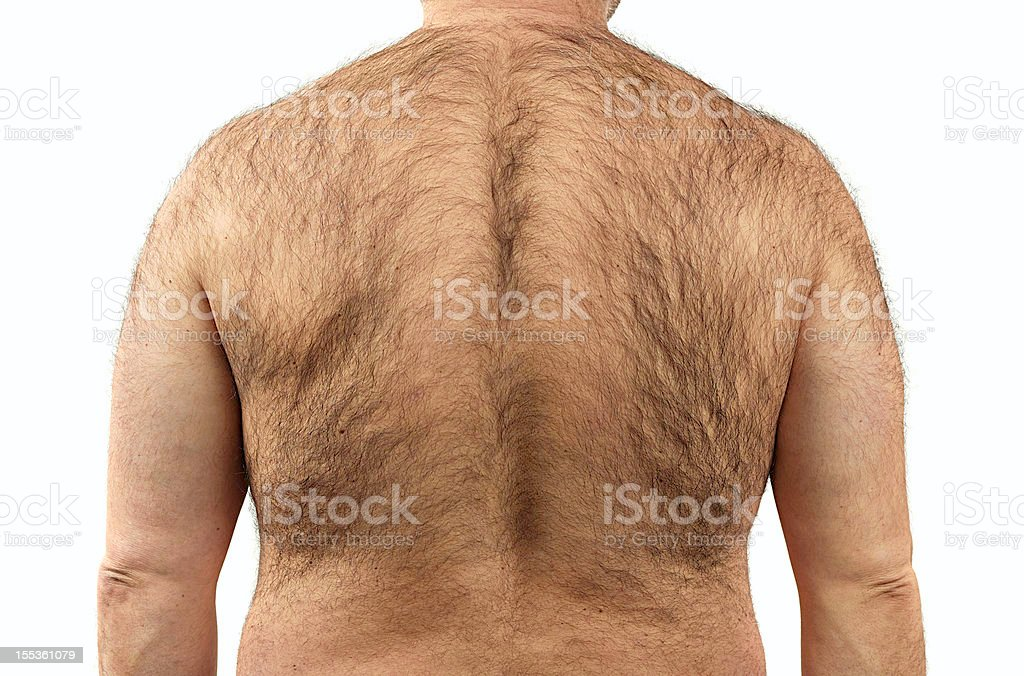 Hairy back stock photo