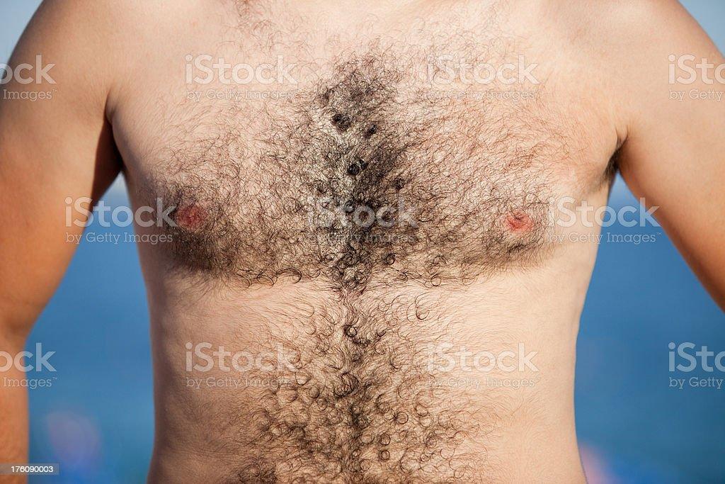 Hairy man stock photo