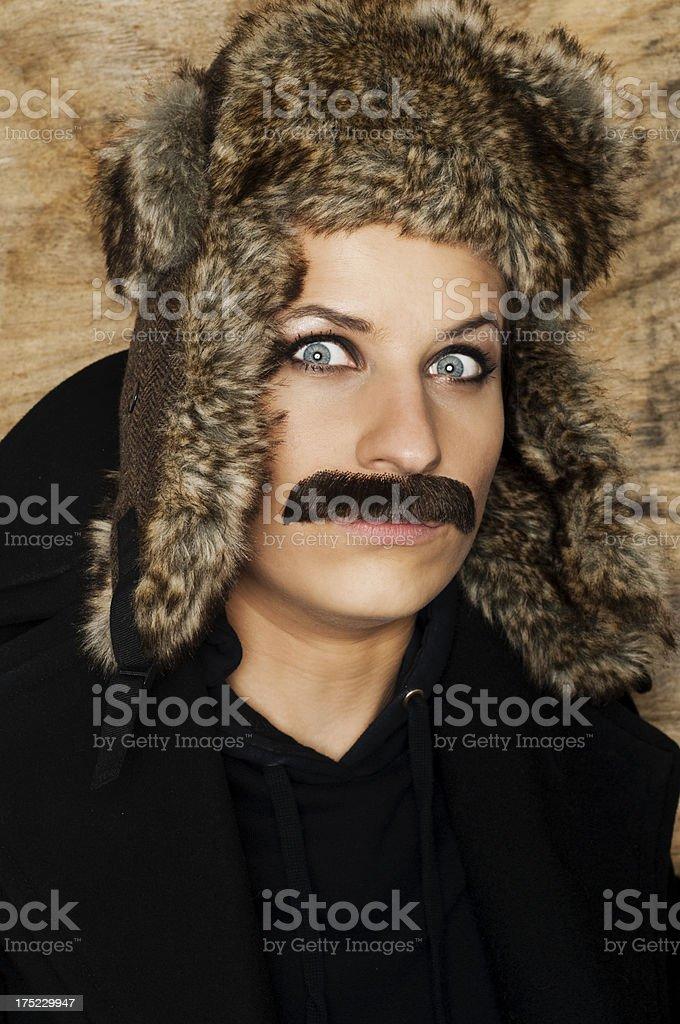hairy woman royalty-free stock photo