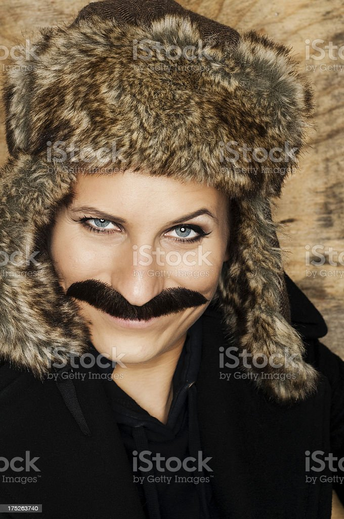 hairy woman stock photo