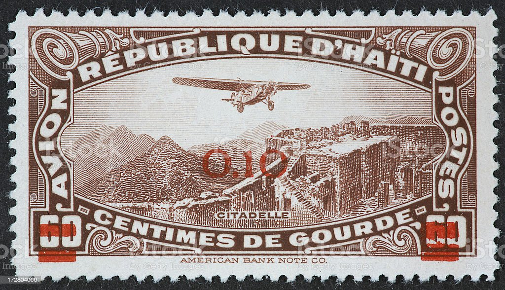 Haiti airmal stamp stock photo