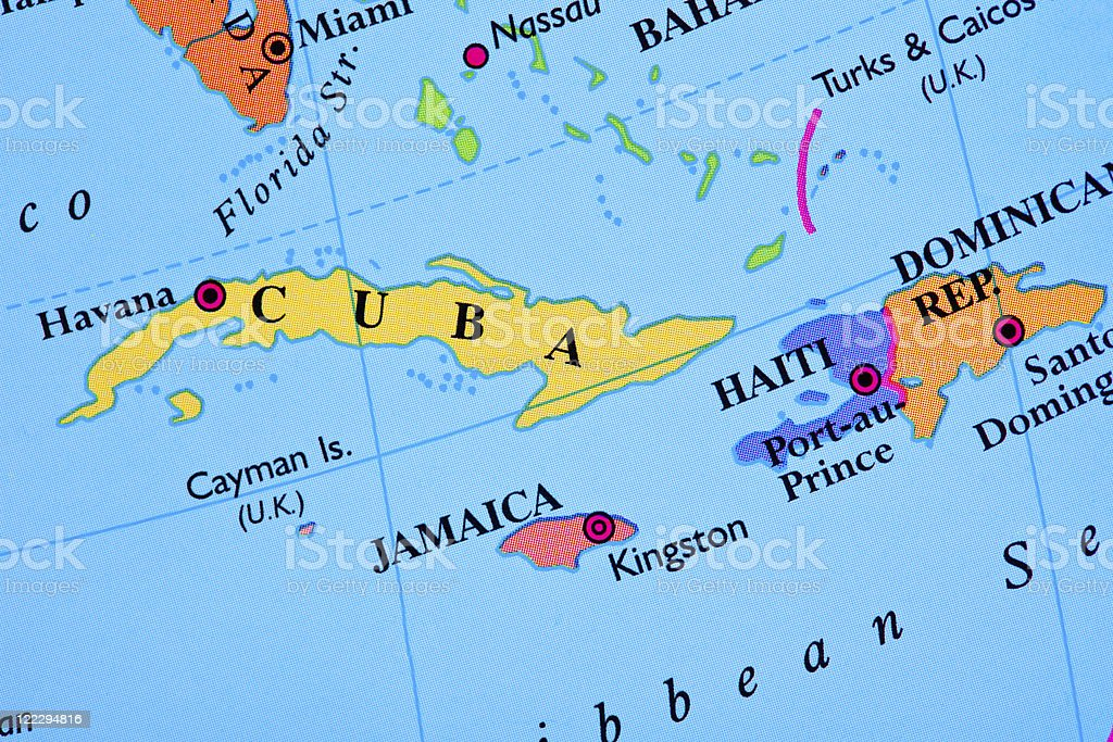 Haiti map stock photo