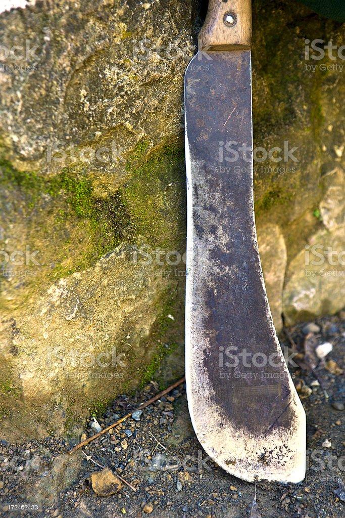 Haiti, Nord, machete. stock photo