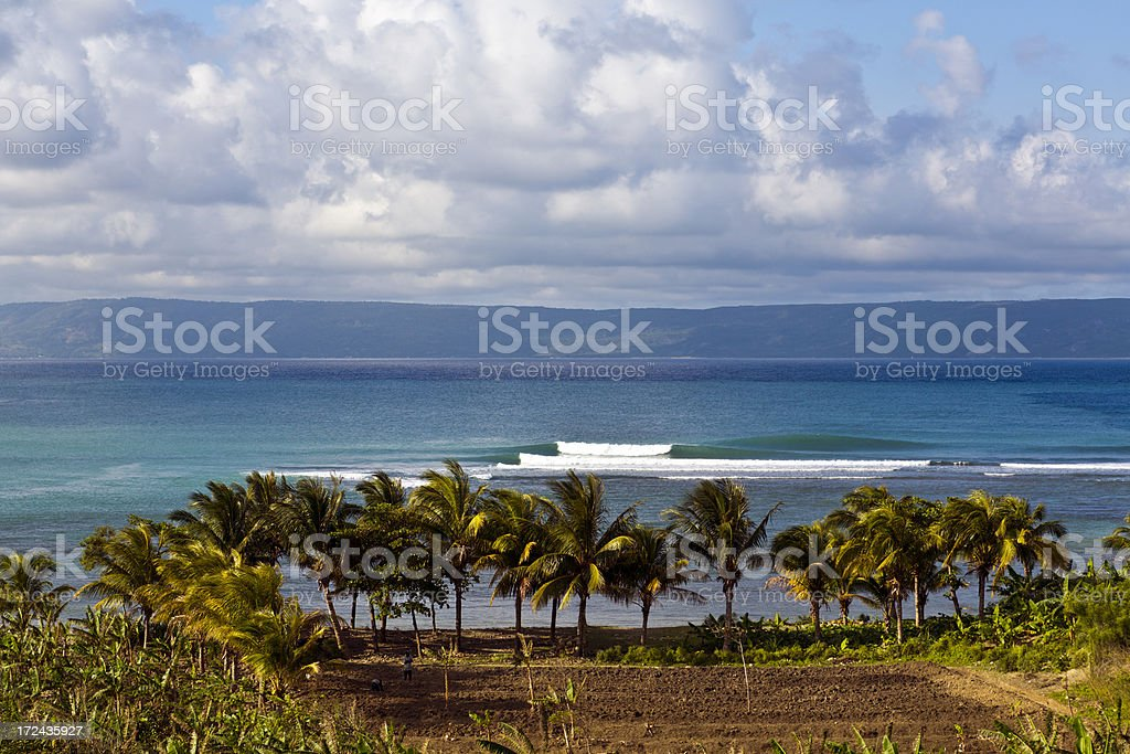 Haiti, Nord-Ouest, ocean waves. royalty-free stock photo