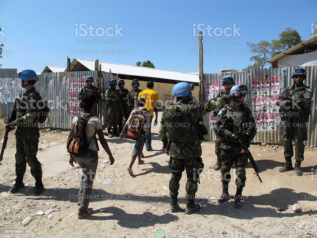 Haiti Presidential Run-off Election, March 20, 2011 stock photo