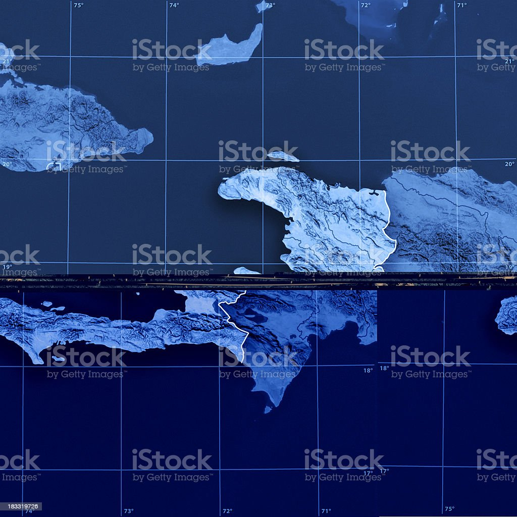 Haiti Topographic Map royalty-free stock photo