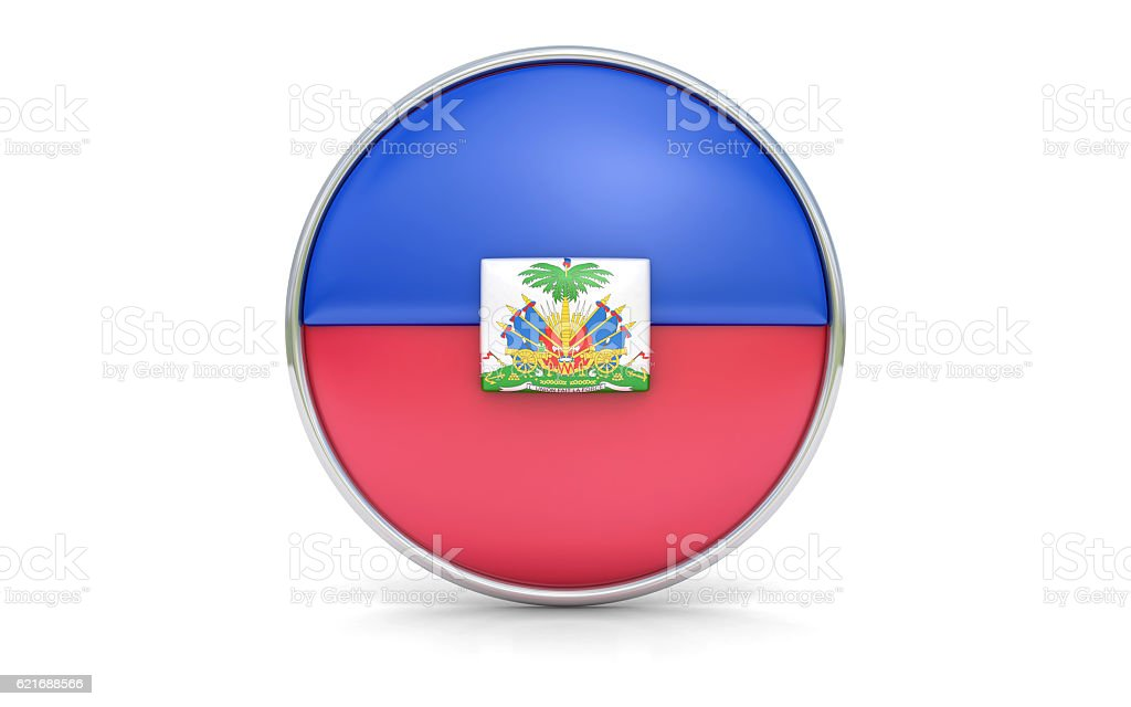 Haitian flag stock photo