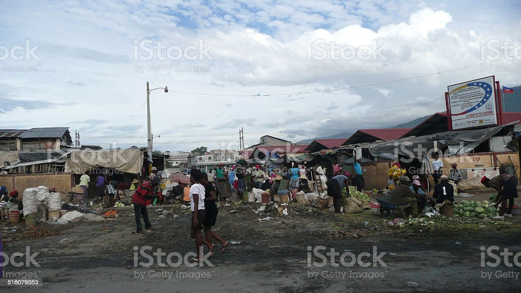 Haitian market stock photo