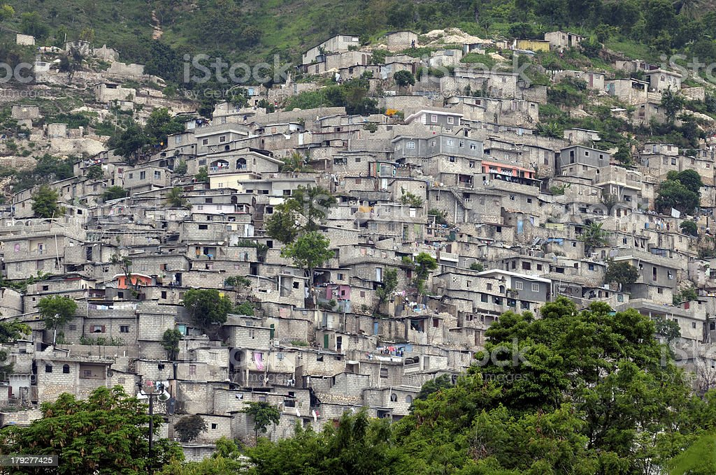 Haitian Slum Housing stock photo