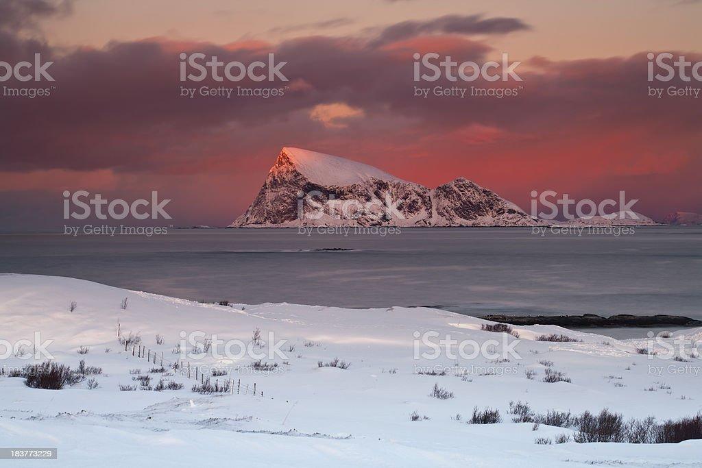 'Haja sunset, Sommaroya, Arctic Norway' stock photo