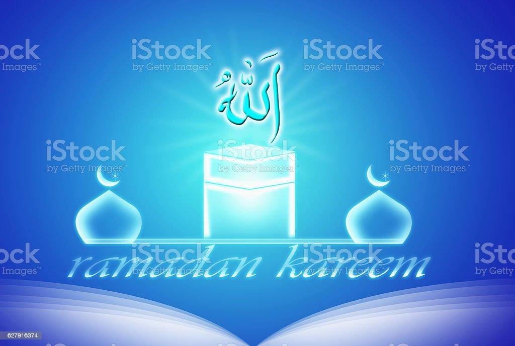 Hajj greeting kaaba background stock photo