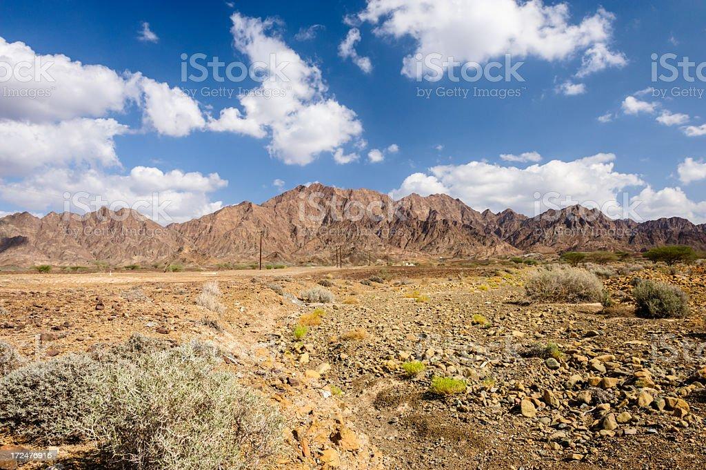 Hajjar Mountains and road royalty-free stock photo