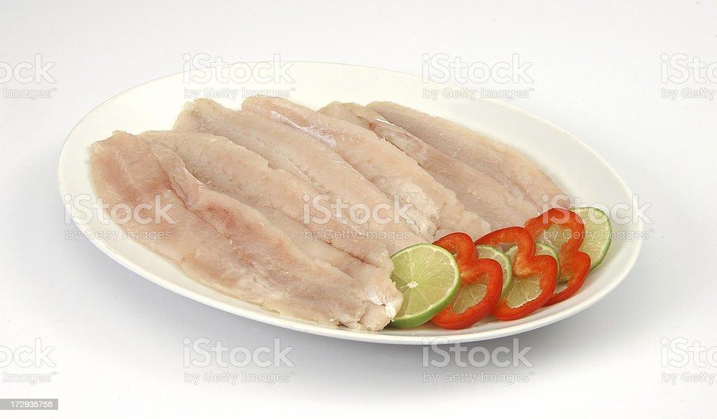 Hake fish fillets royalty-free stock photo