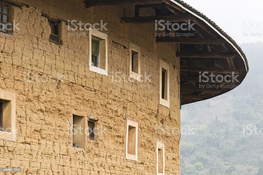 Hakka Tulou traditional Chinese housing in Fujian Province of Ch stock photo