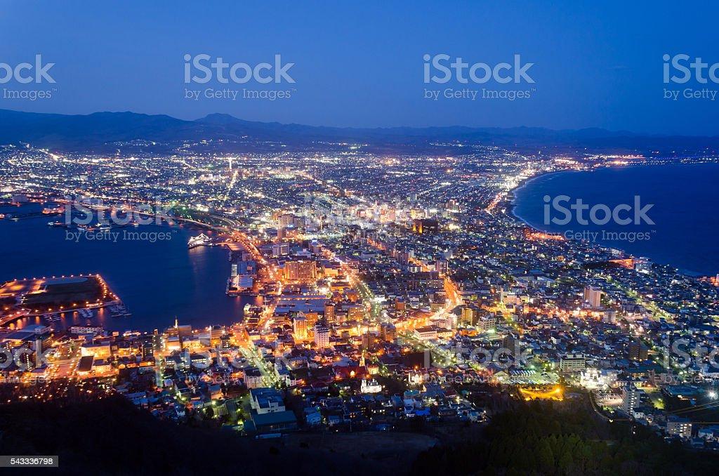 Hakodate Cityscape stock photo