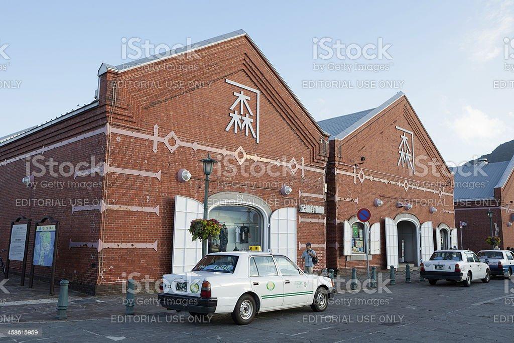 Hakodate Kanemori Red Brick Warehouses royalty-free stock photo