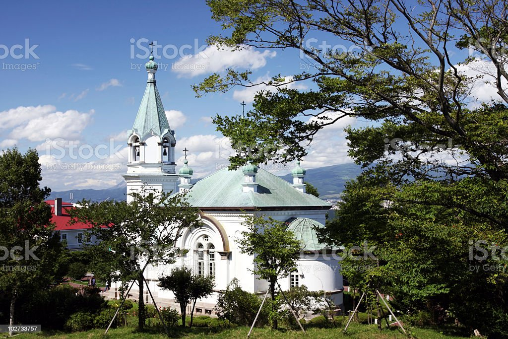Hakodate Russian Orthodox Church stock photo