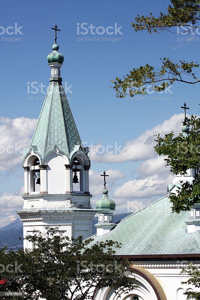Hakodate Russisch-Orthodoxe Kirche Lizenzfreies stock-foto