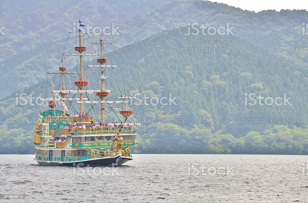 Hakone Pirate Ship stock photo