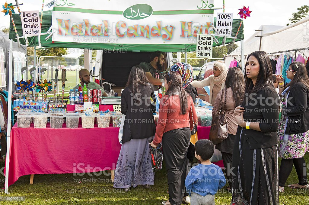 Halal Candy Hut, Edinburgh Mela stock photo