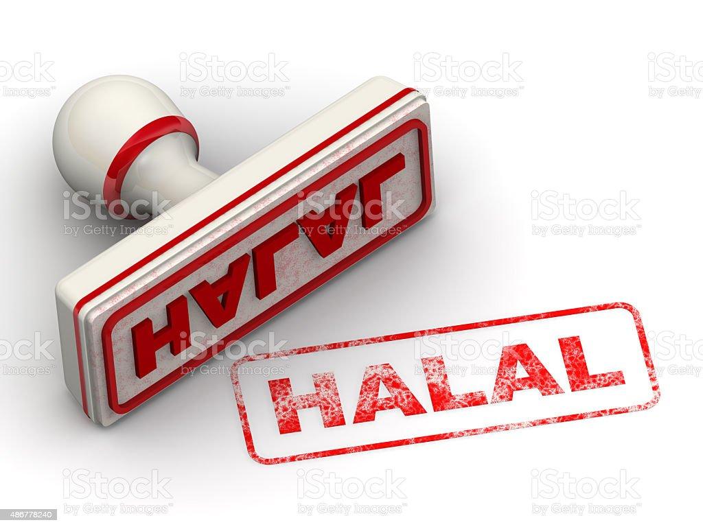 Halal. Seal and imprint stock photo